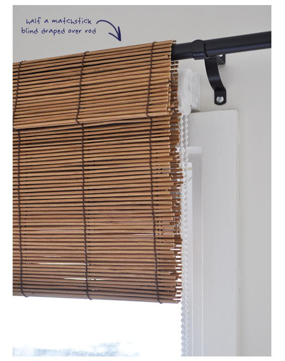 Valance Using A Matchstick Blind As A Faux Shade Home