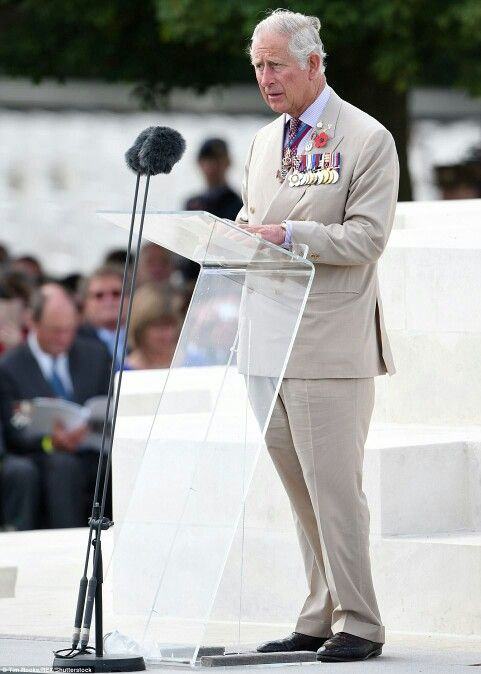 Prince Charles speaks at the ceremony to mark the Centenary of the Battle of Passchendaele. July 31 2017