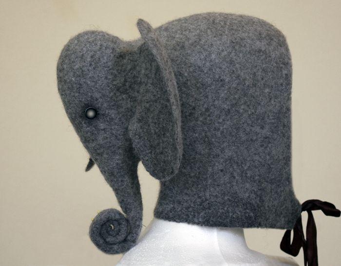 felted elephant hat