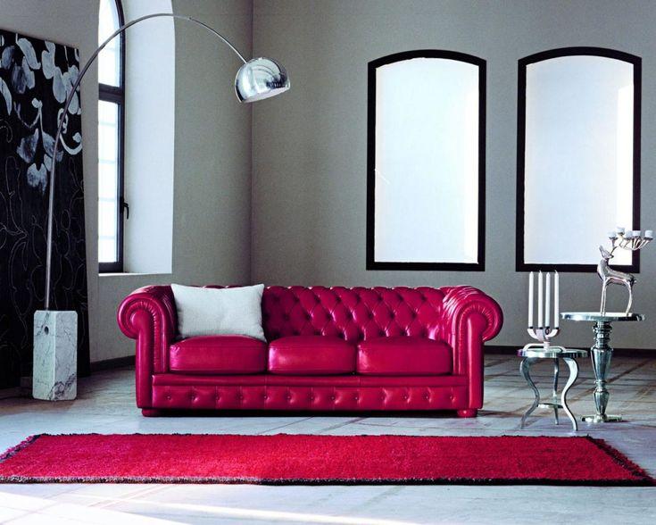 Oltre 20 migliori idee su divano rosso su pinterest - Divano in pelle rosso ...