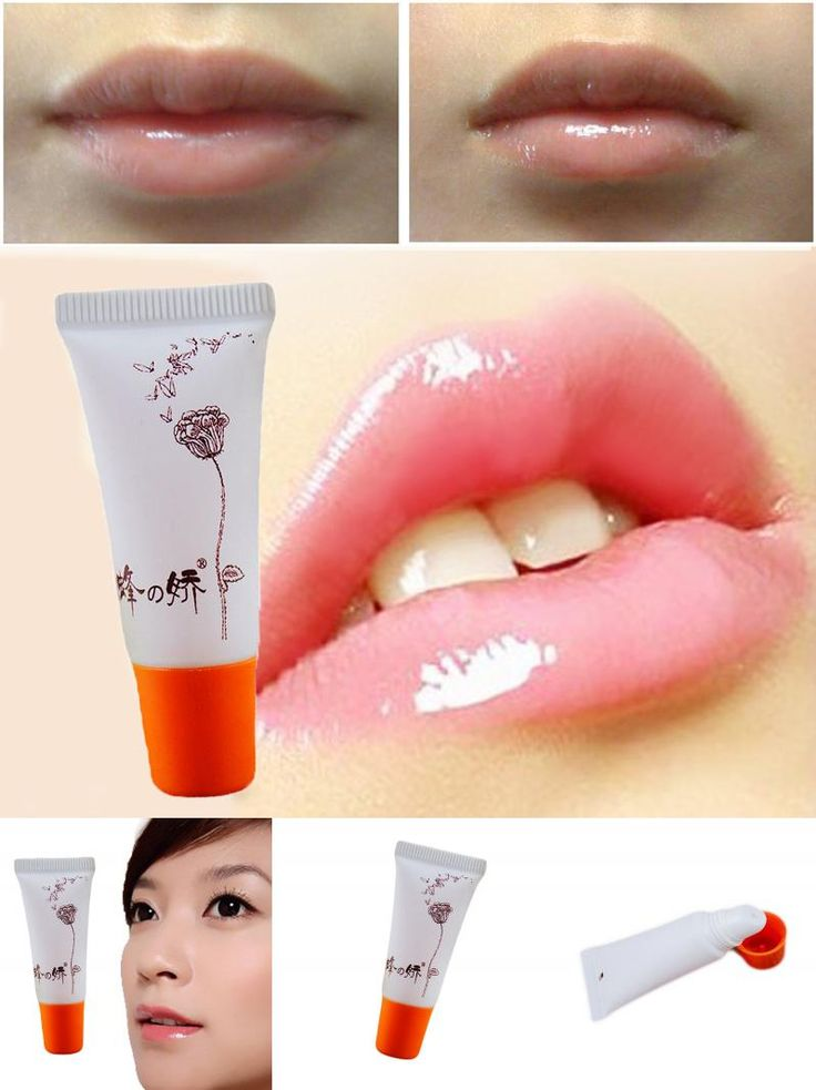 [Visit to Buy] 6Pcs/Lot Honey pollen Lips Exfoliating Gel Moisturizer repair lip plumper dead skin gel of full Lip Enhancer Free shipping #Advertisement