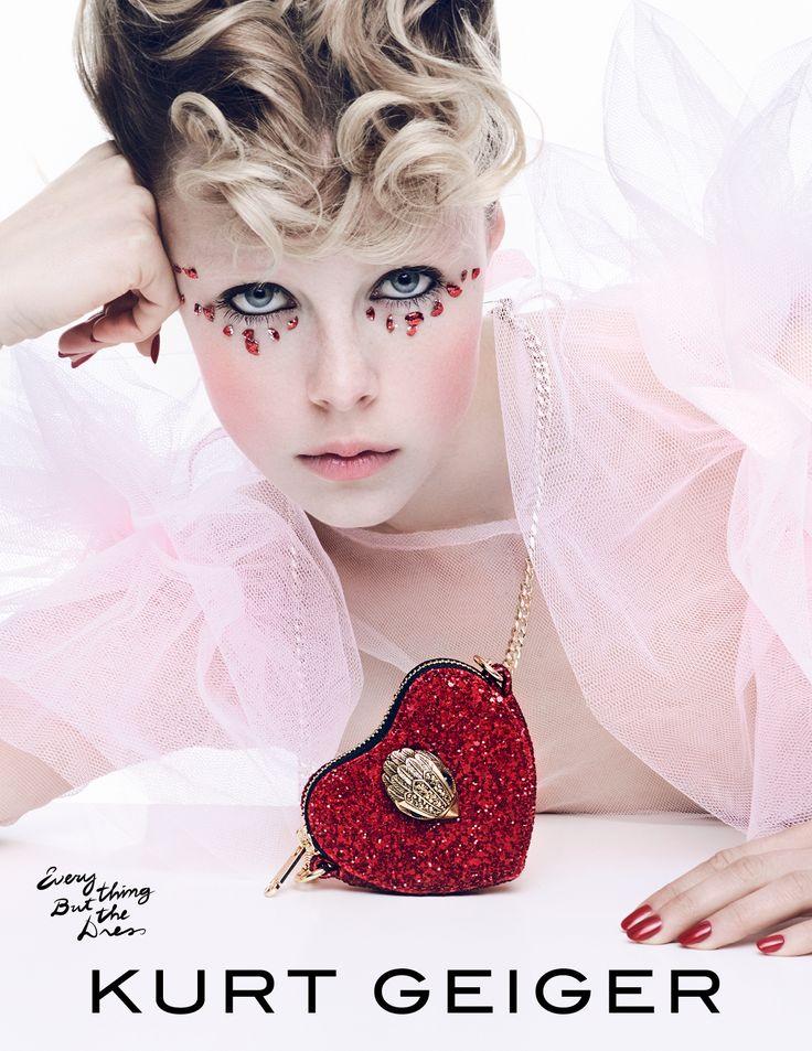 Kurt Geiger - Bags - Glitter Heart Cross Body