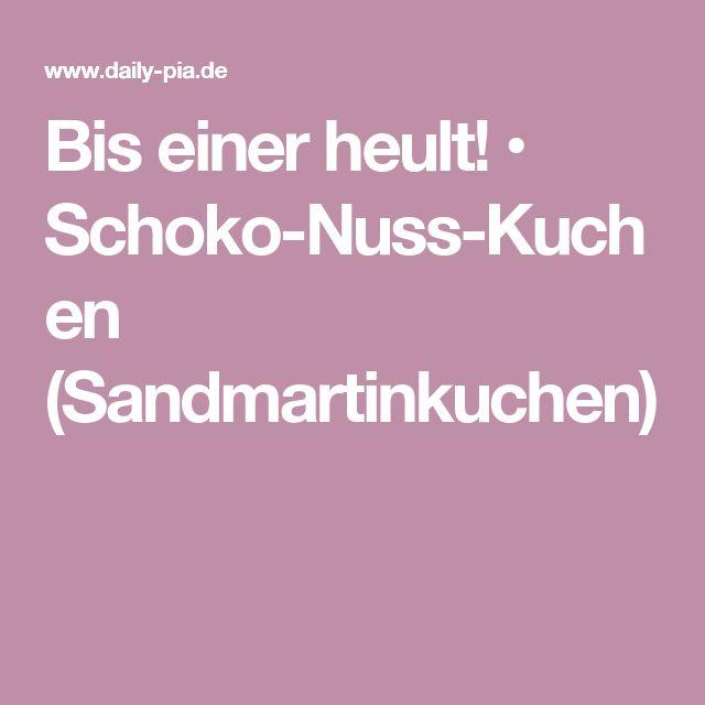 Bis einer heult! • Schoko-Nuss-Kuchen (Sandmartinkuchen)