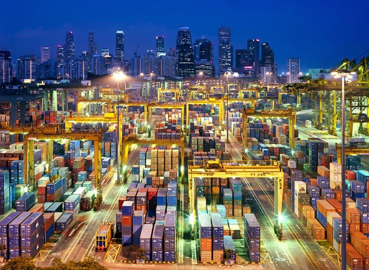 Port of Singapore Under Lights