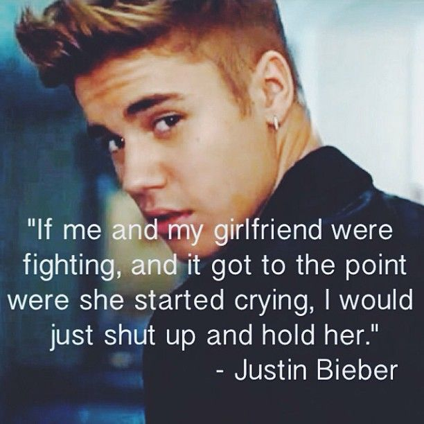 justin bieber That is a true man. every man should do that. I love you Justin