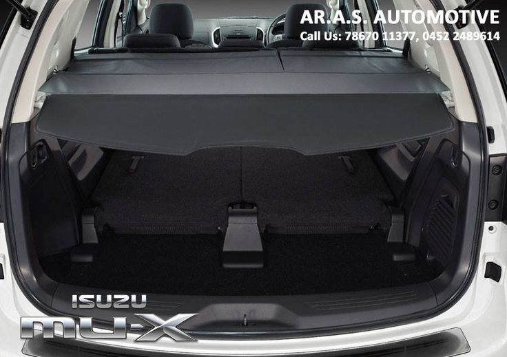 TONNEAU COVER An ideal accessory to protect and discreetly carry your belongings when the 3rd row is folded... #isuzu #mux #arasautomotive #madurai