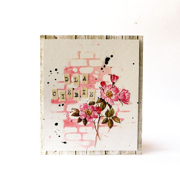 Card  DLA CIEBIE / FOR YOU - DT Scrap-Lifting