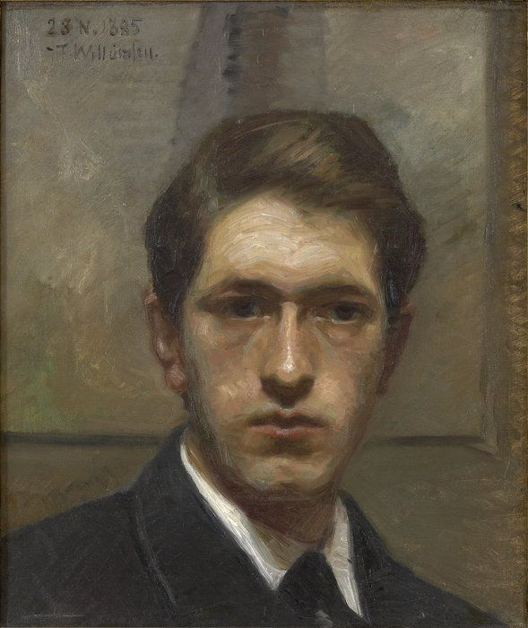 J.F. Willumsen 1863-1958: Self portrait, 1885