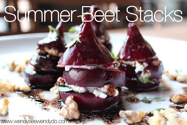 Wendy See Wendy Do: Summer Beet Stacks