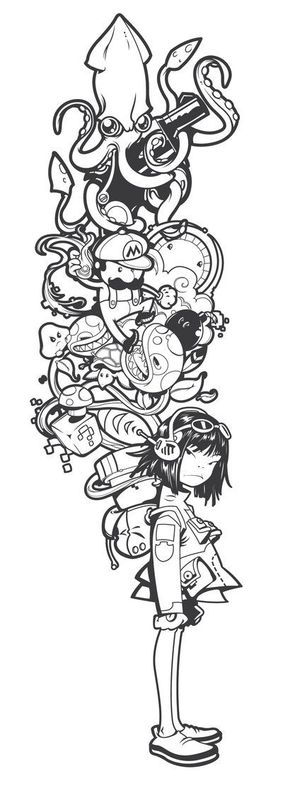 Doodle idea/Character development: Draw an OC with a backpack full of things they'd collect or let weigh them down or that captures their personality. >>> Noorio-Go-Go by ~tokyo-go-go on deviantART