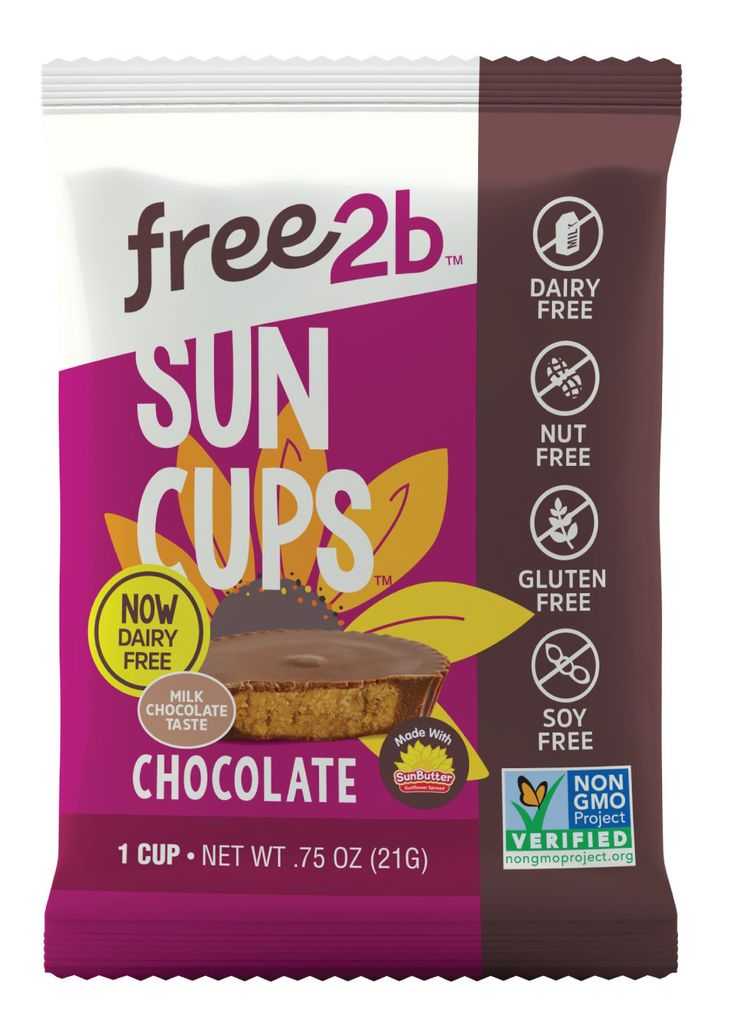 Product image, free2b sun cups chocolate 1 cup NET WT .75oz