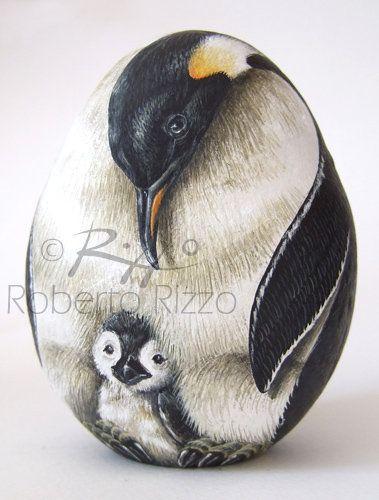 Sassi dipinti di Roberto Rizzo - Uccelli e rettili