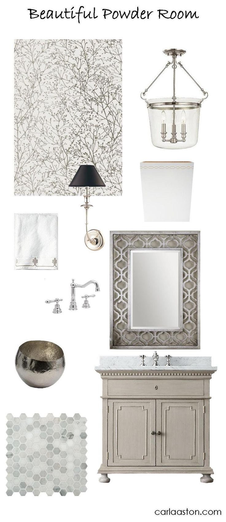 10 Must-Have Pieces of Powder Room Decor — DESIGNED w/ Carla Aston
