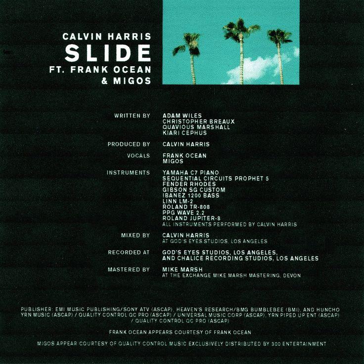 Calvin Harris Frank Ocean Migos  Slide