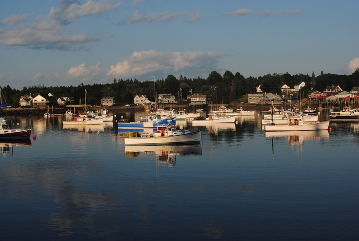 sunset on Bass Harbor Thurston's Lobster Pound near Acadia Nat'l Park | Favorite Places & Spaces ...