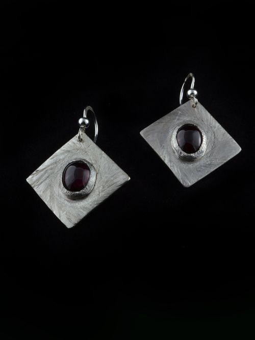 silver and garnet