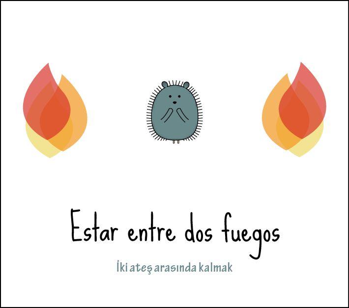 My Lingo Amigo - Tu mejor amigo İspanyolca deyimler: Estar entre dos fuegos
