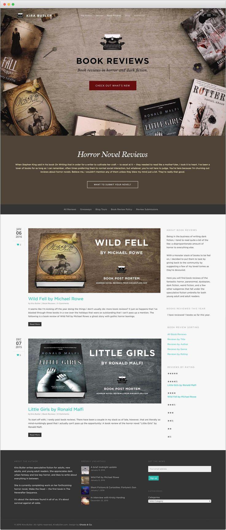 KiraButler.com Book Reviews in Horror and Dark Fiction Website