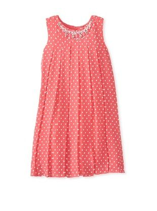 67% OFF Blush by Us Angels Girl's Embellished Dot Dress (Coral)