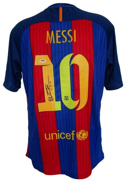 Lionel Messi Signed Nike Barcelona 2016-17 Home Soccer Jersey PSA/DNA
