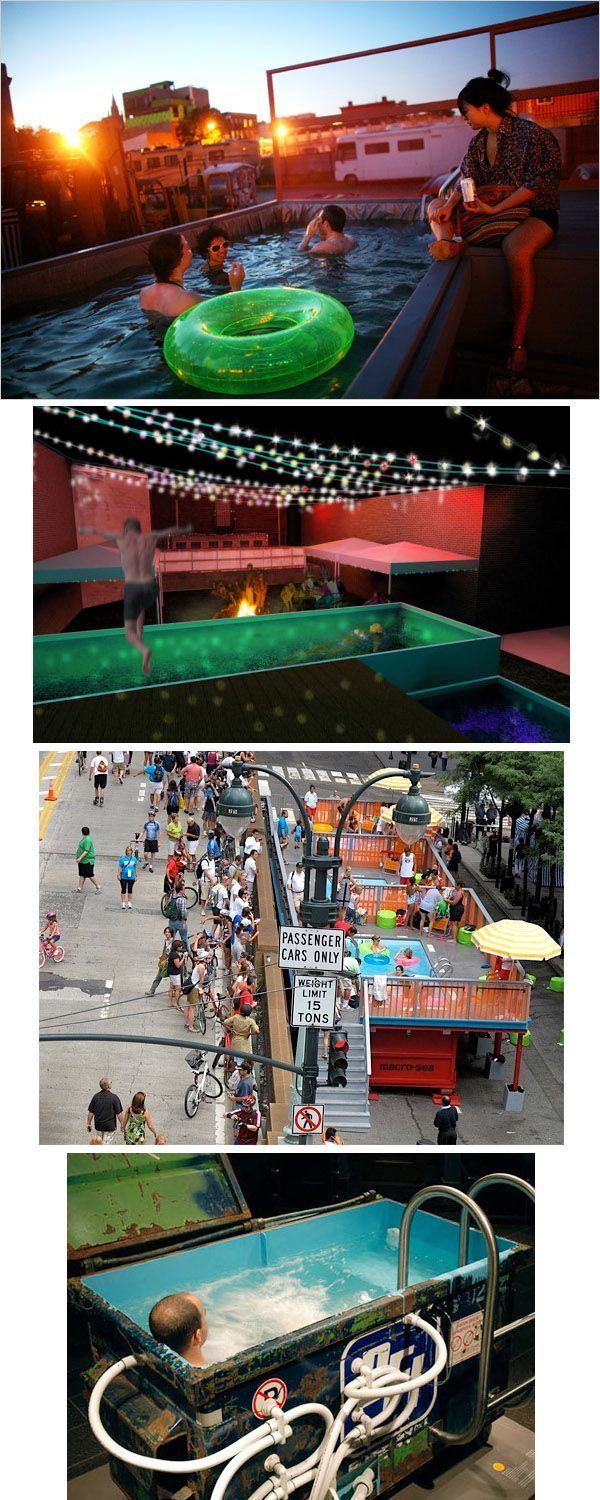 Converting dumpster into pools is a hot trend in urban communities across the country, especially in places like New York where land is at a premium. If dumpster pools aren't your thing, why not kick back and relax in your own dumpster hot tub?