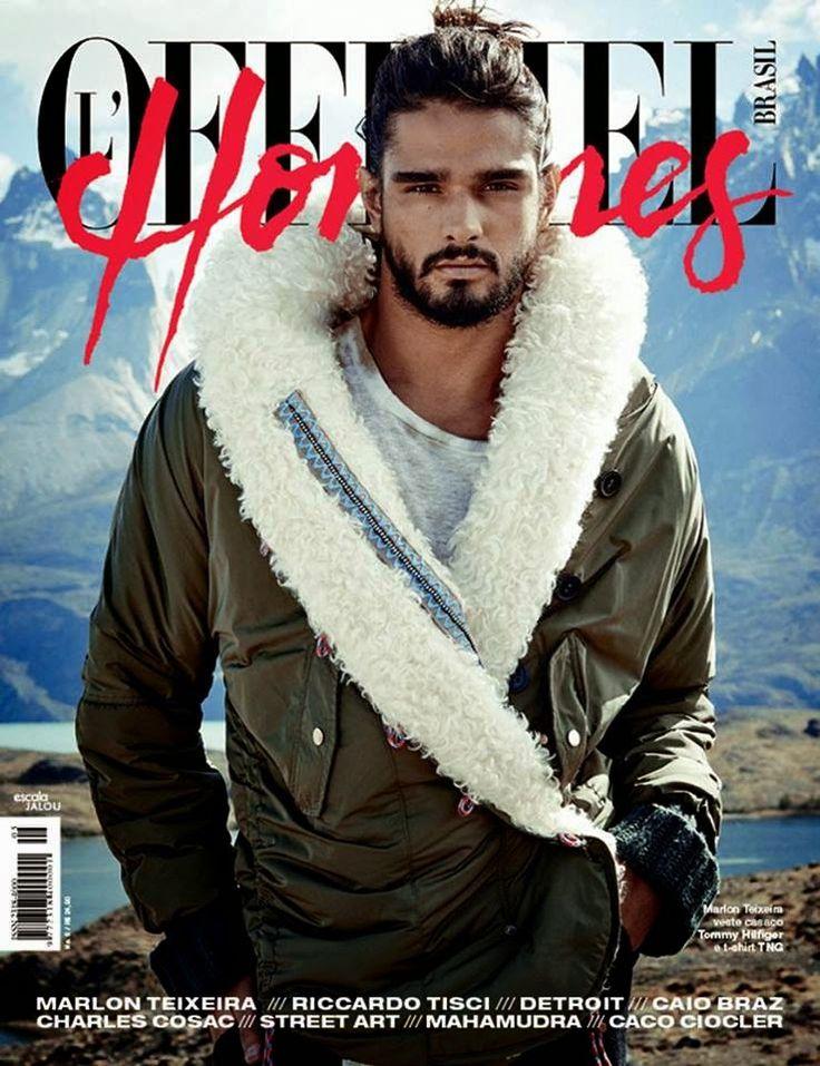 Marlon Teixeira en portada de L'Officiel Hommes Brasil #5