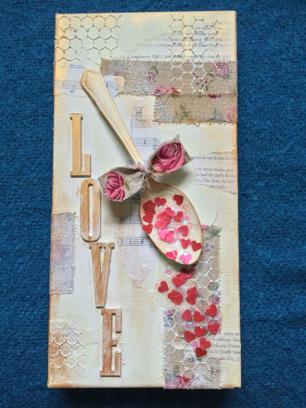 A Spoonful of Love Mixed media canvas by Mike Deakin