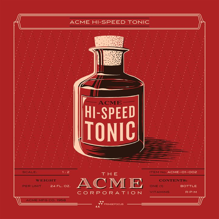 ACME Inventory Series - Hi-Speed Tonic (from the ACME Corporation) Screen print.  http://fringefocus.com/i/acme-inventory-series/