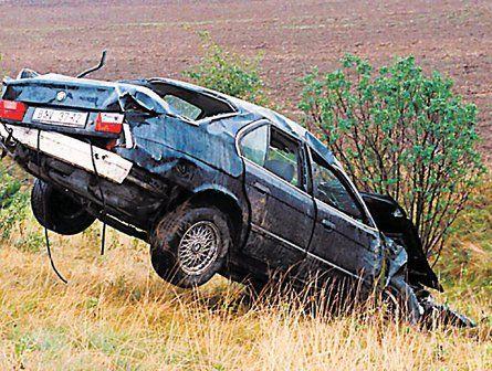 De dienstauto waarin Dubcek stierf.
