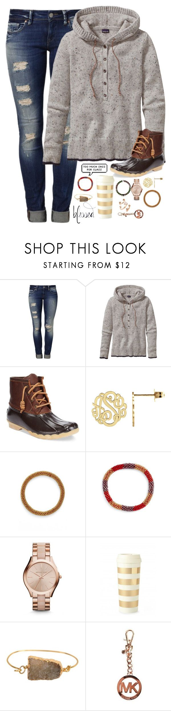 """when did we replace the word ""said"" with ""was like"""" by kaley-ii ❤ liked on Polyvore featuring Mavi, Patagonia, Sperry Top-Sider, Aid Through Trade, Michael Kors, Kate Spade, Valerie Nahmani Designs and Kendra Scott"