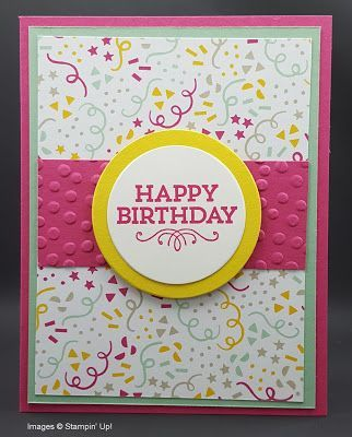 "This month's theme was ""Feminine Birthday... and here are the cards that my lovely stampers turned in for the swap... in no certain order... Kim: Gwen:  Tera: Theresa: Melissa: Great job lad"