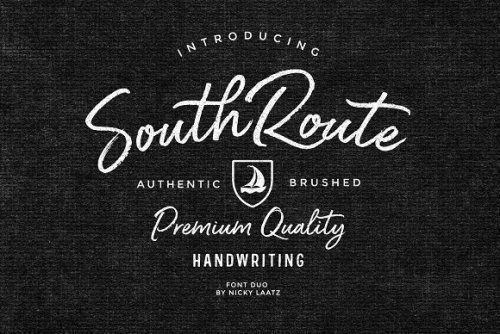 designeour:    South Route Font Duo & Extras by Nicky Laatz...