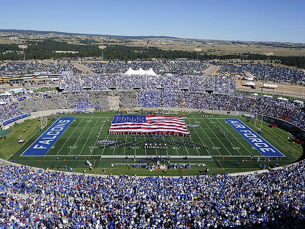 Air Force Game Day at Falcon Stadium Print by Air Force