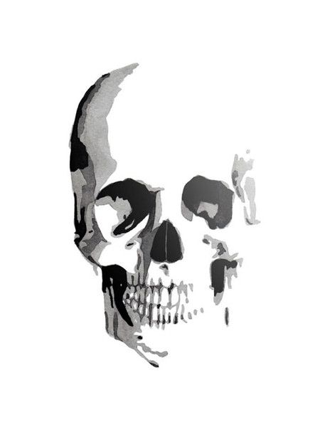 Skull Print // would look sick on a shirt