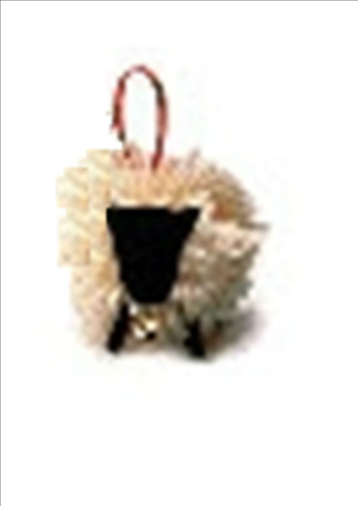 Free pattern and instructable  How to make a Christmas lamb.