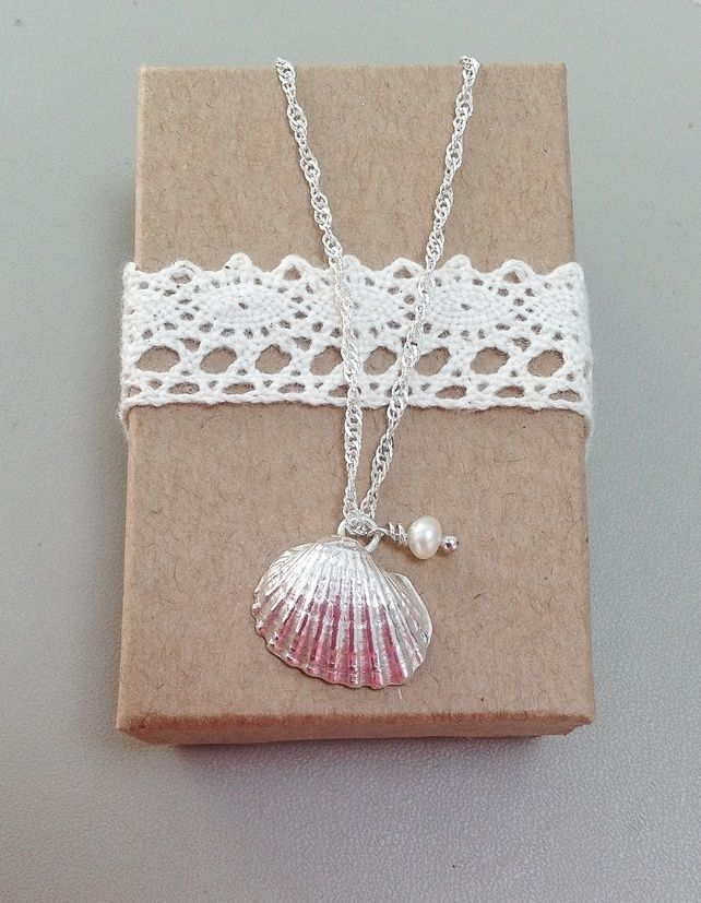 Beach shell necklace