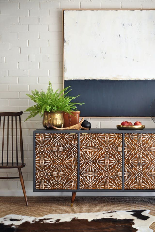 Bone Inlay Budget DIY Furniture Projects | Bone inlay, intarsia and marquetry furniture is popping up more and more. The downside? The hefty price tag, unfortunately. But here's the good news. You can easily get this look at home, for a fraction of the cost.