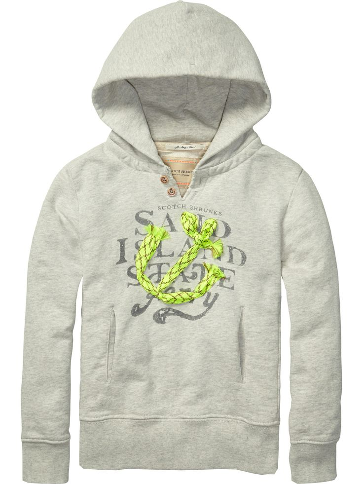 worked-out hoody with patches|sweat|Boys Clothing at Scotch & Soda