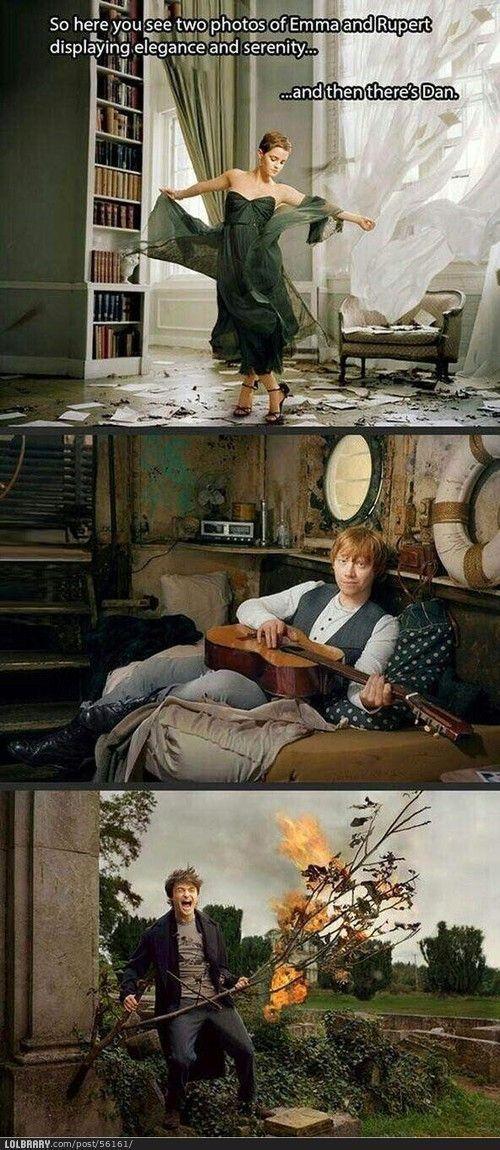 Funny Harry Potter Emma Watson Rupert Grint Daniel Radcliffe