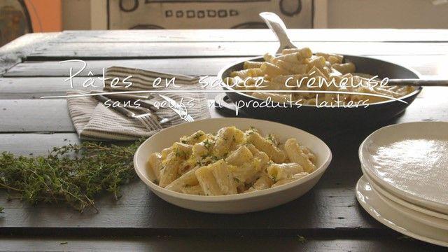 Pâtes en sauce crémeuse (sans œufs ni produits laitiers) | Cuisine futée, parents pressés