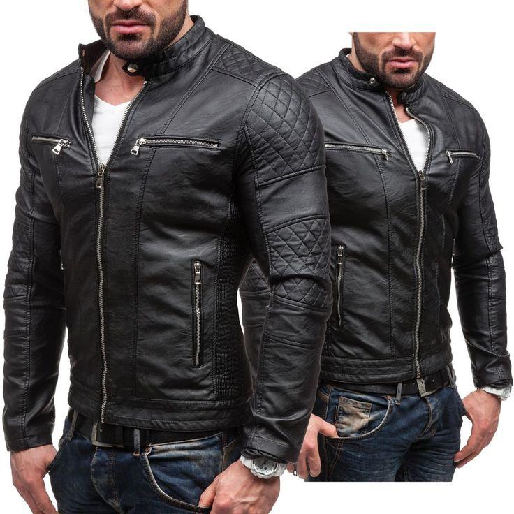 Feifa Fashion 9125 Veste Doudoune Hiver Veste mi-saison Simili-cuir 4D4 BOLF-CO
