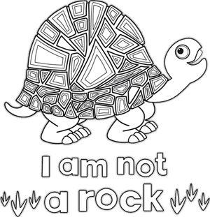 Tinga Tinga Tales. Tortoise. Colouring Page.