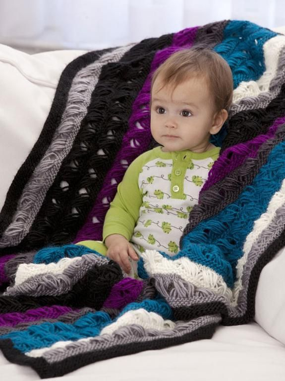 "#FreeKnittingPattern - we love this gorgeous knit blanket donated by Vickie Howell for the Purple Stitch Project! Click the image to get the free instant download of the pattern and click ""Repin"" to spread the word about the Purple Stitch Project and help kids with seizure disorders! #knitting #pattern #PurpleStitchProject"