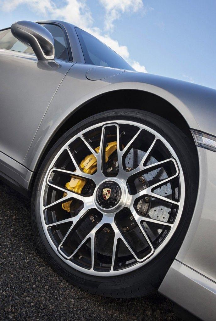 ♂ silver car wheels details 2014 Porsche 911 Turbo - Pursuitist