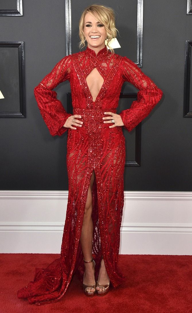The Best Dresses of Awards Season So Far - Carrie Underwood in Elie Madi