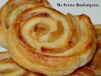Ma Petite Boulangerie: Espirales de hojaldre con manzana y canela