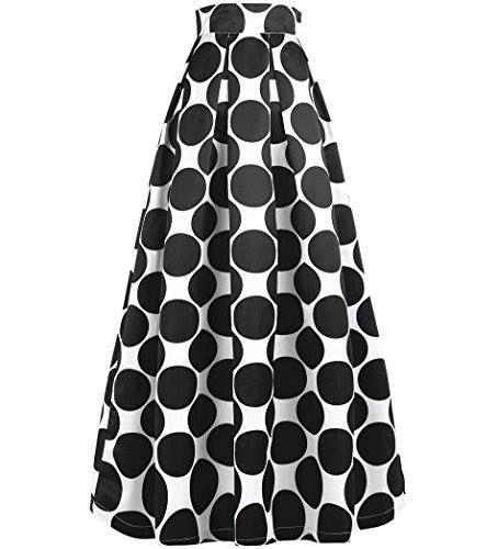 Shop https://goo.gl/XScnzY   NINEWE Women's White Contrast Polka Dot Print Maxi Skirt   Check Store Price https://goo.gl/XScnzY  #Contrast #Dot #Maxi #NINEWE #Polka #Print #Skirt #White #Womens