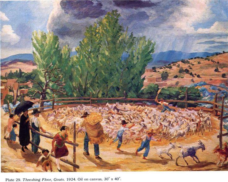 John french sloan threshing floor santa fe 1924 art for Threshing floor