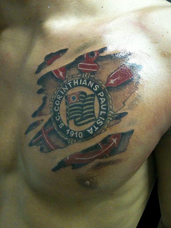 Vai Corinthians rasgando.... tatuagem.
