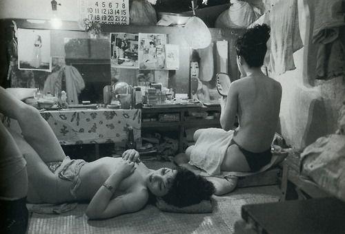 Werner Bischof - Striptease Dressing Room, Tokyo, Japan, 1951